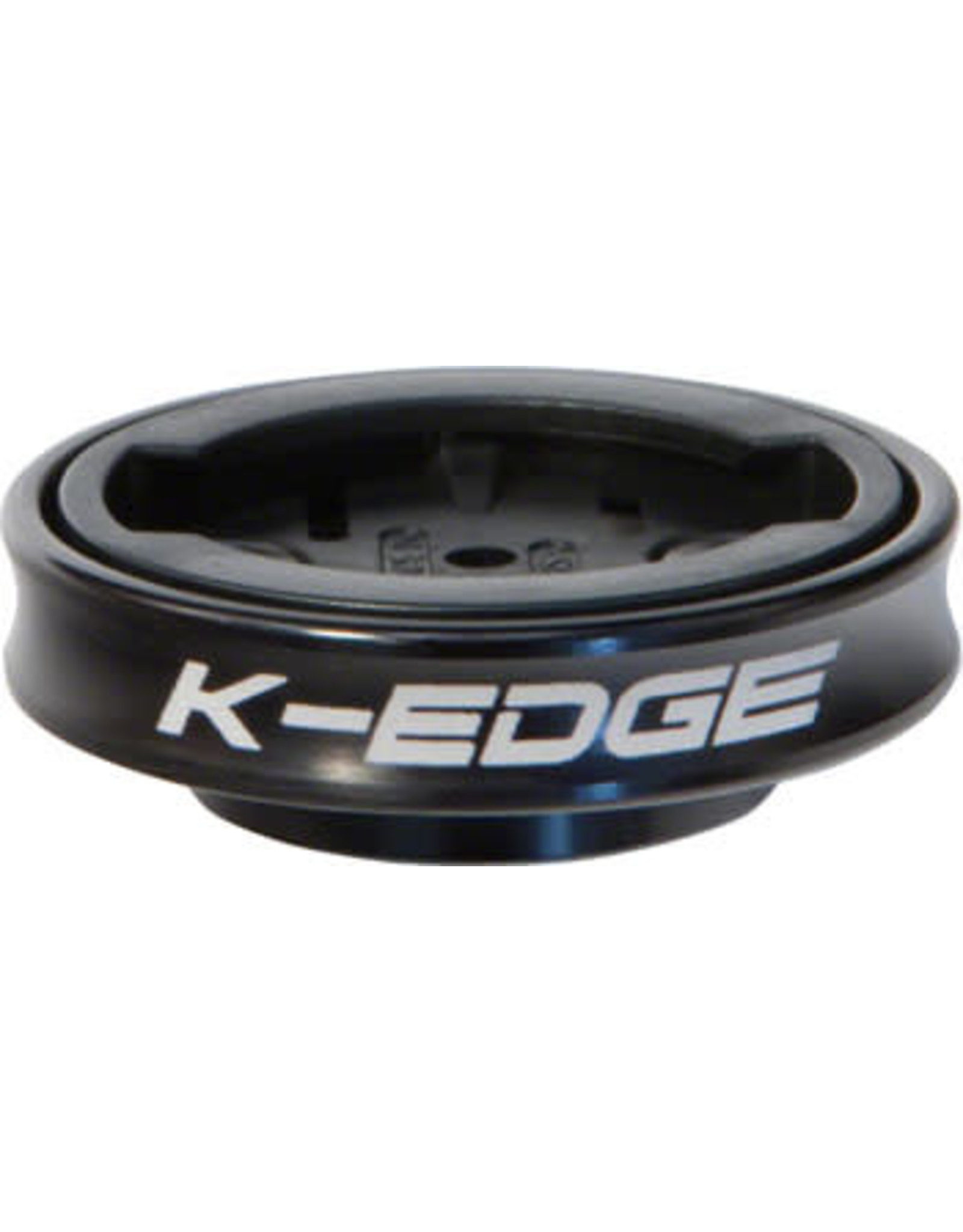 K-Edge K-EDGE Gravity Cap Stem Mount for Garmin Quarter Turn Type Computers, Black