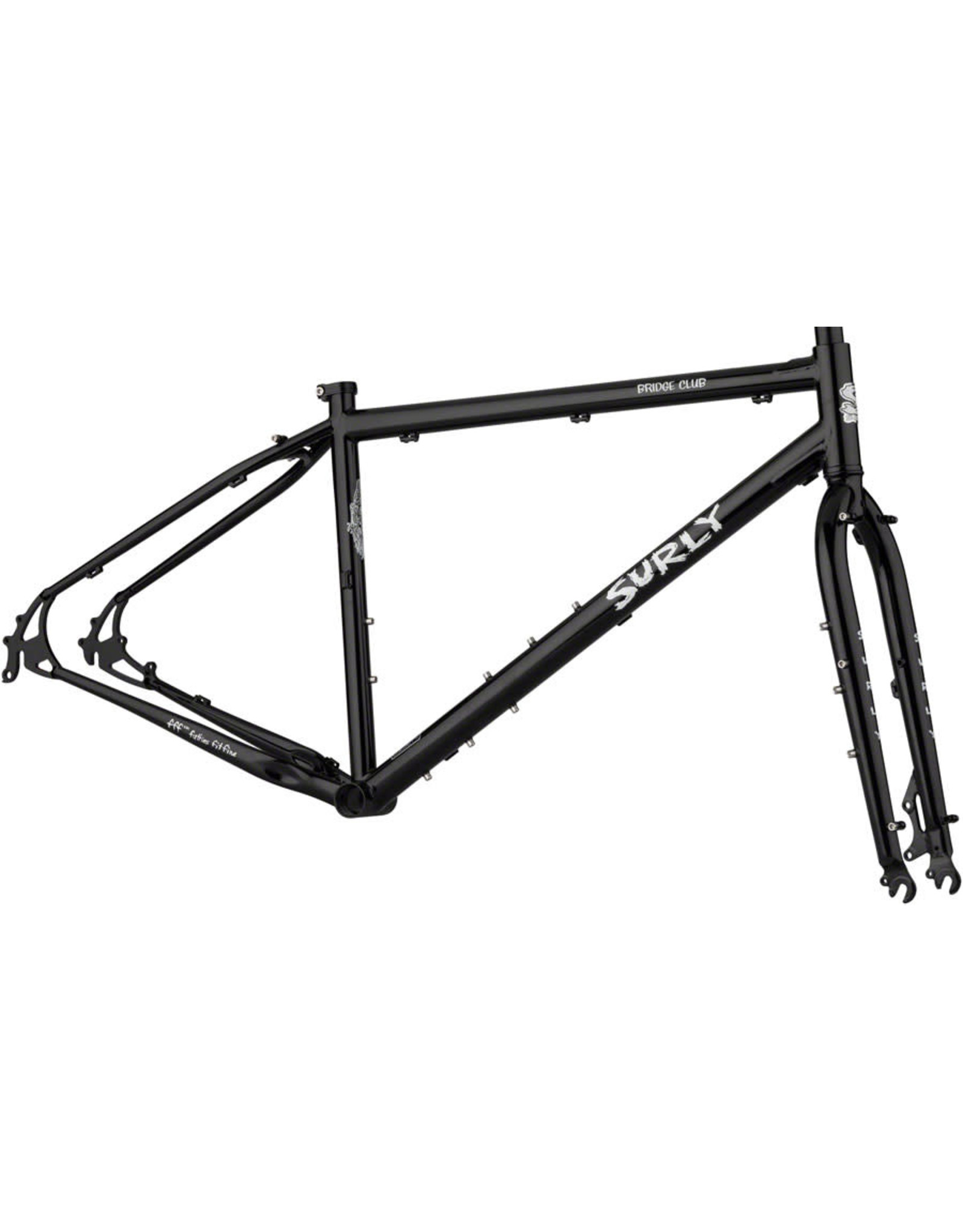 "Surly Surly Bridge Club Frameset - 27.5""/700c, Steel, Black, Large"