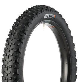 "45NRTH 45NRTH Dillinger 4 Studded Fatbike Tire: 26 x 4.0"", 240 Steel Carbide Studs, Tubeless Ready Folding 60tpi, Black"