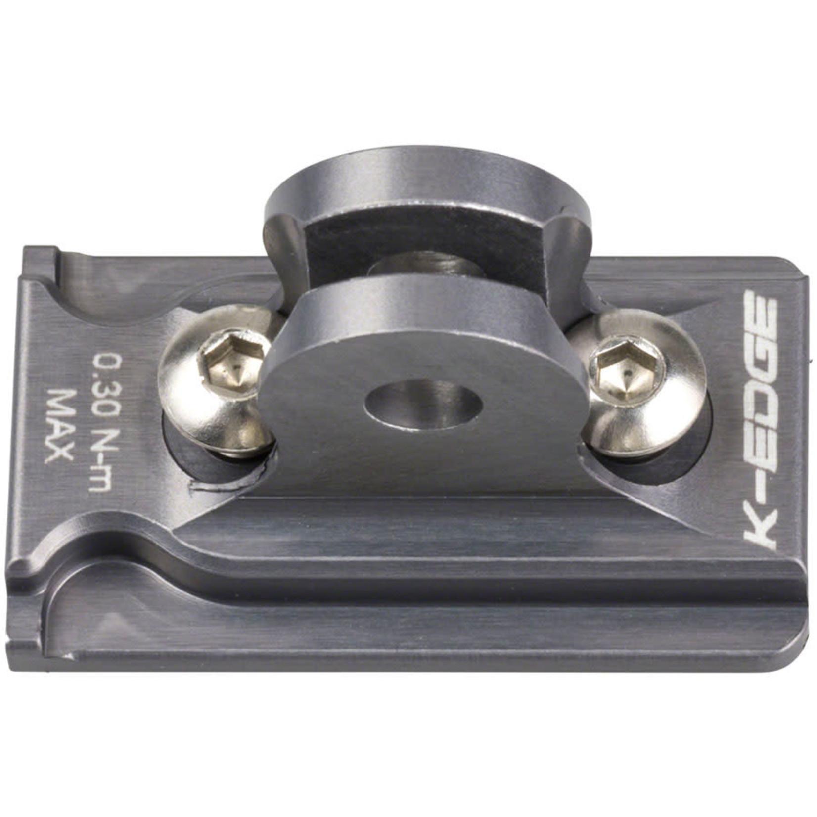 K-Edge K-EDGE NiteRider Adapter: for K-EDGE Go Big Mounts and Combo Mounts, Gun Metal