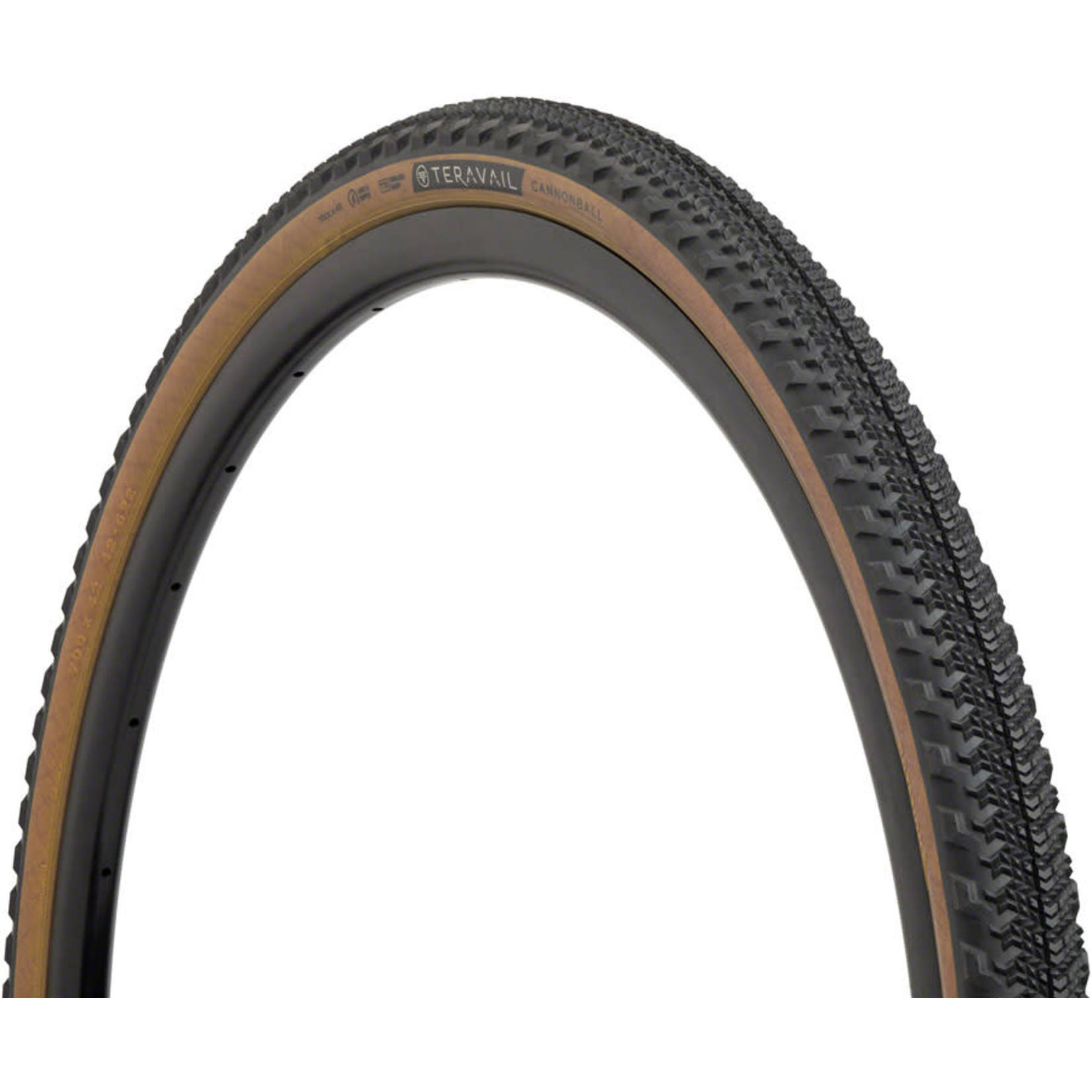Teravail Teravail Cannonball Tire - 700 x 42, Tubeless, Folding, Tan, Light and Supple