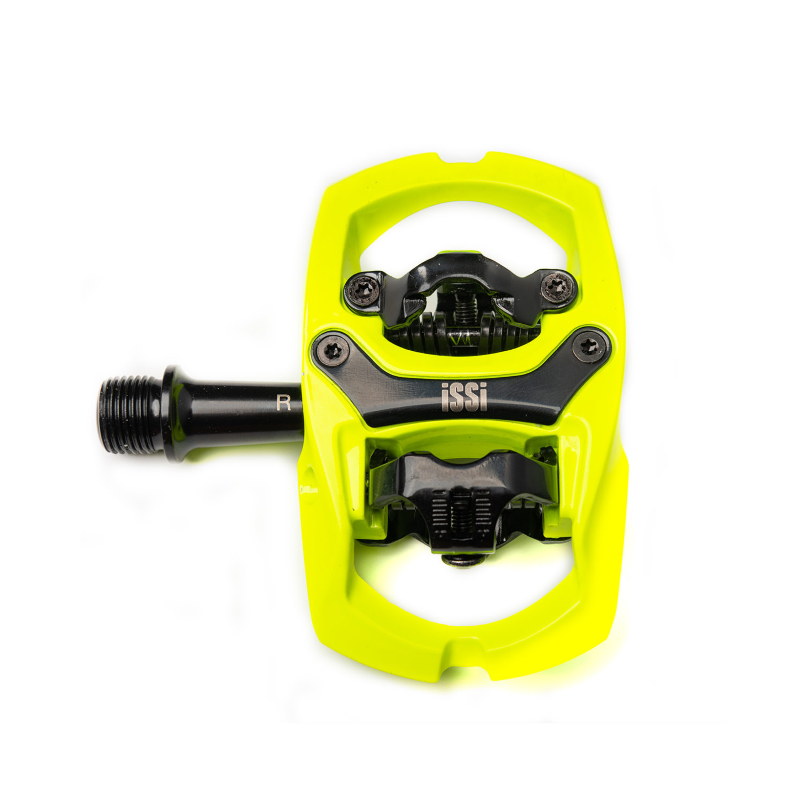 """iSSi iSSi Trail II Pedals - Dual Sided Clipless with Platform, Aluminum, 9/16"""", Yellow"""