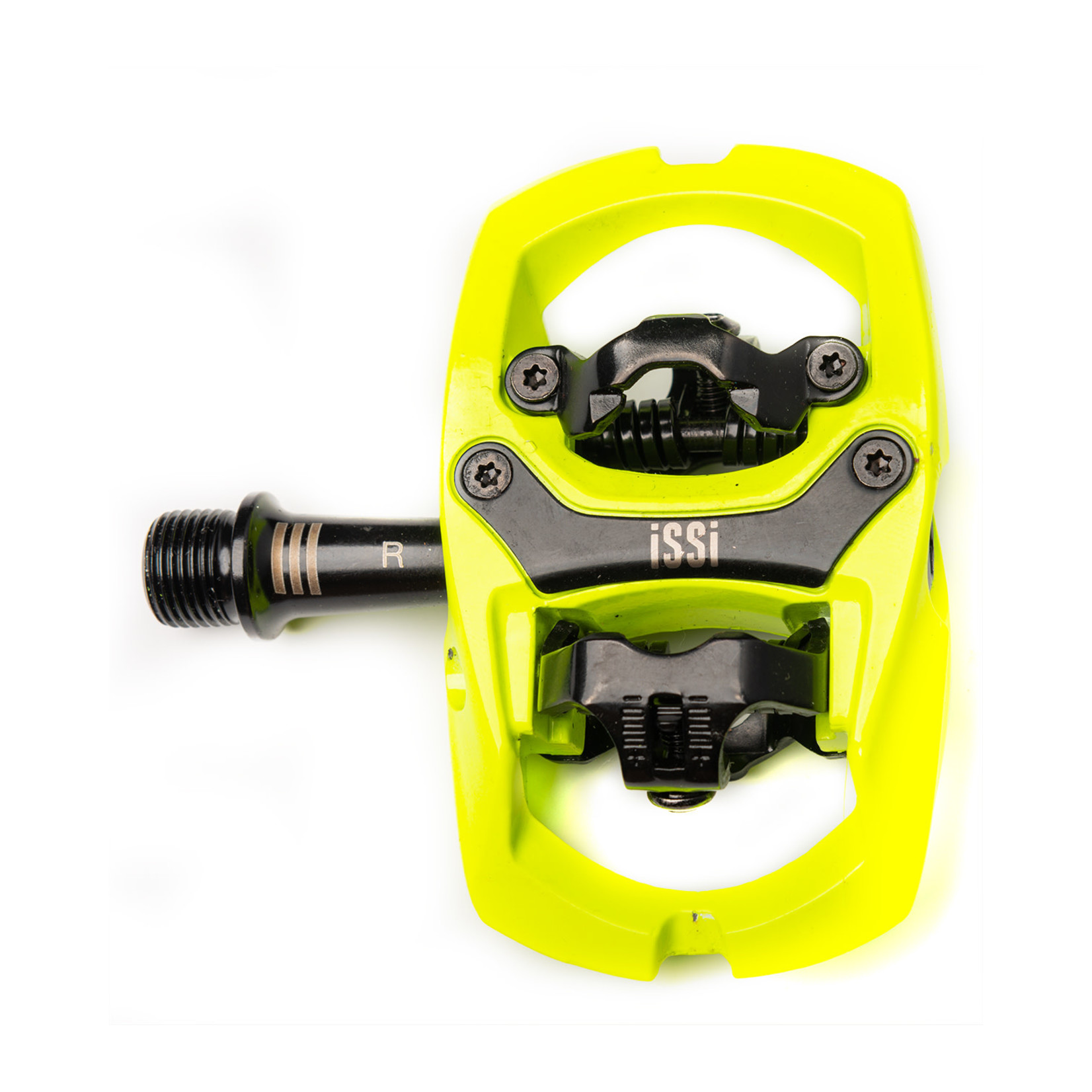 """iSSi iSSi Trail III Pedals - Dual Sided Clipless with Platform, Aluminum, 9/16"""", Yellow"""