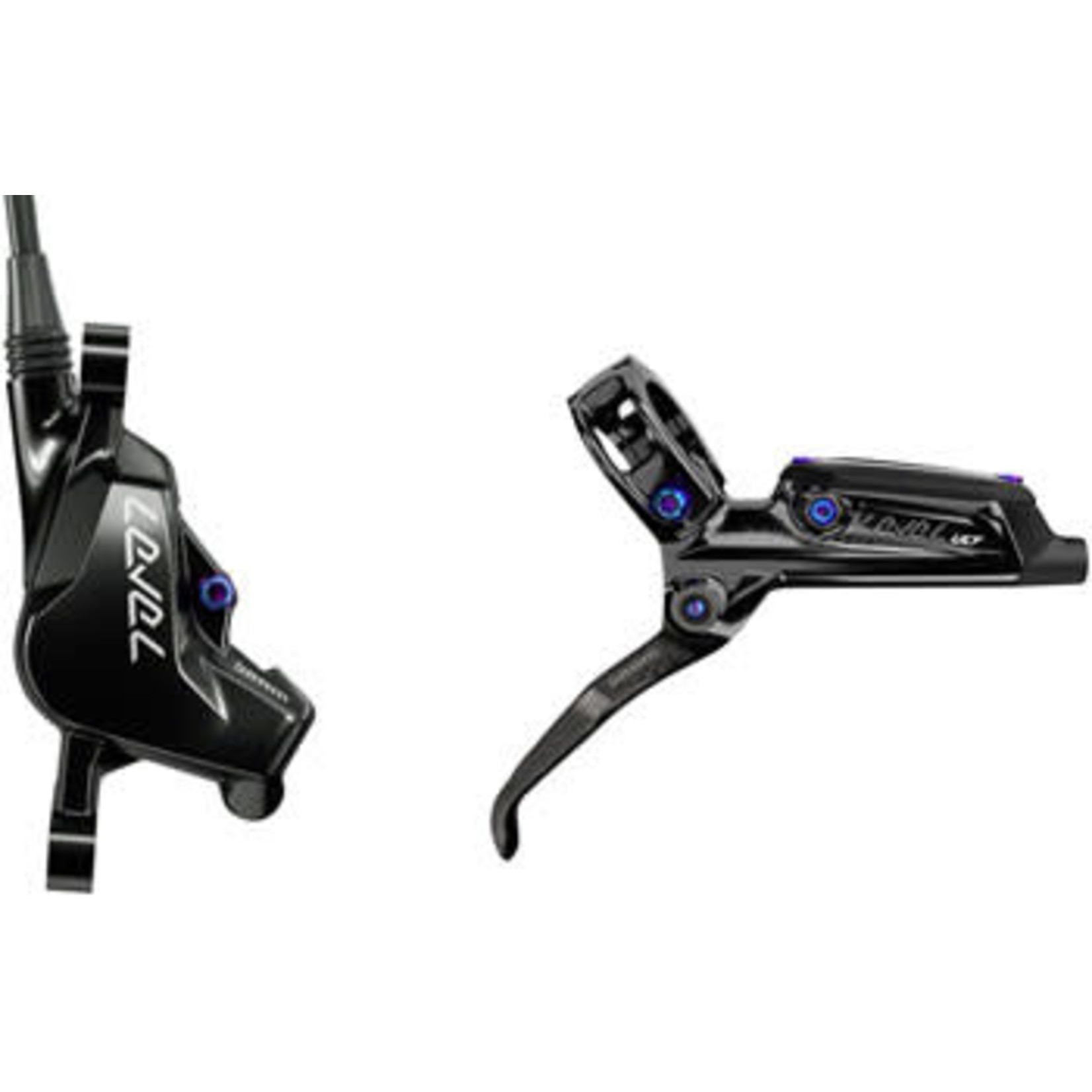 SRAM SRAM Level Ultimate Disc Brake and Lever - Rear, Hydraulic, Post Mount, Black with Rainbow Hardware, B1