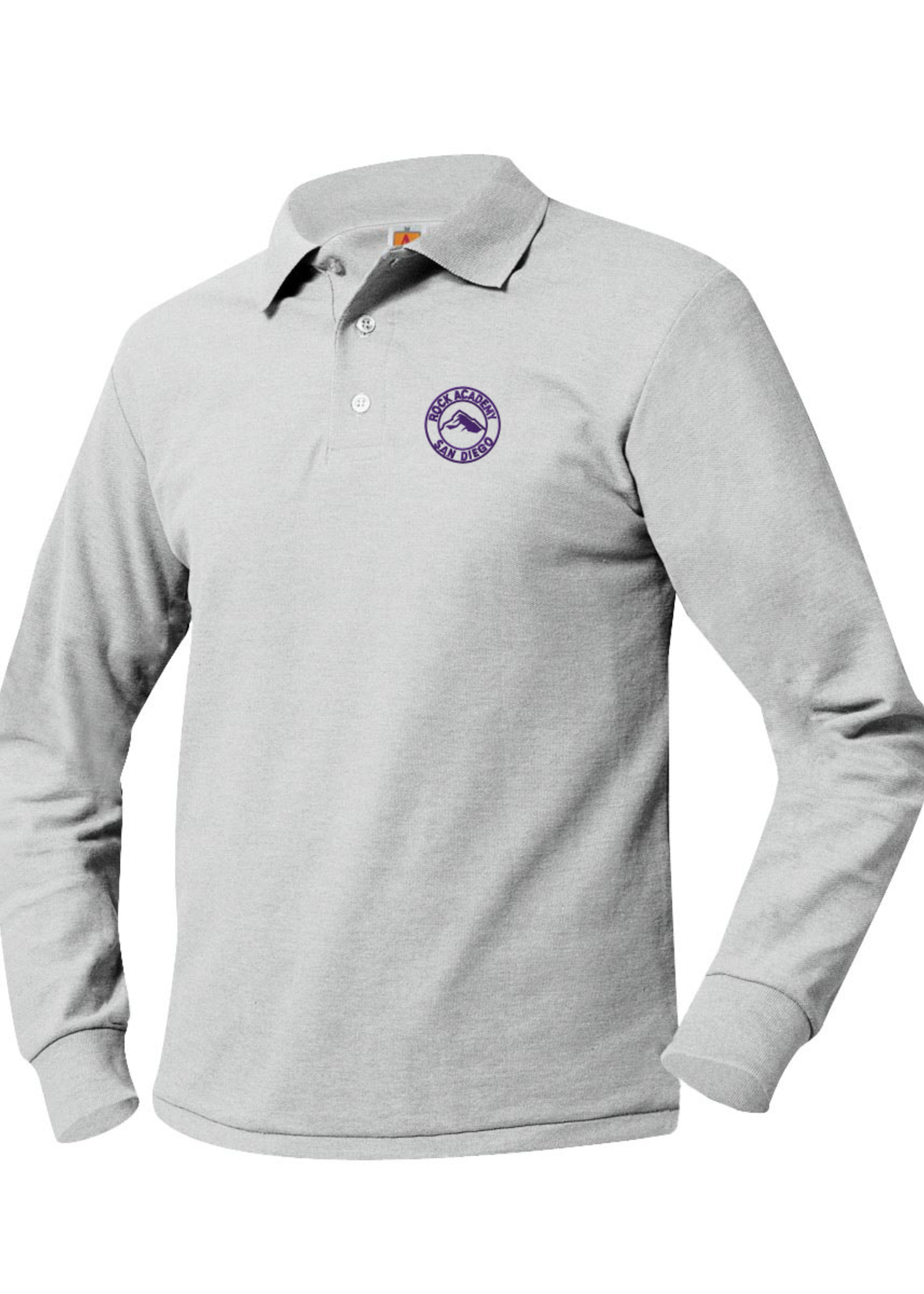 TUS ROCK Long Sleeve Pique Polo