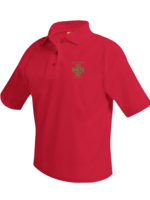 TUS CCPS Short Sleeve Red Pique Polo