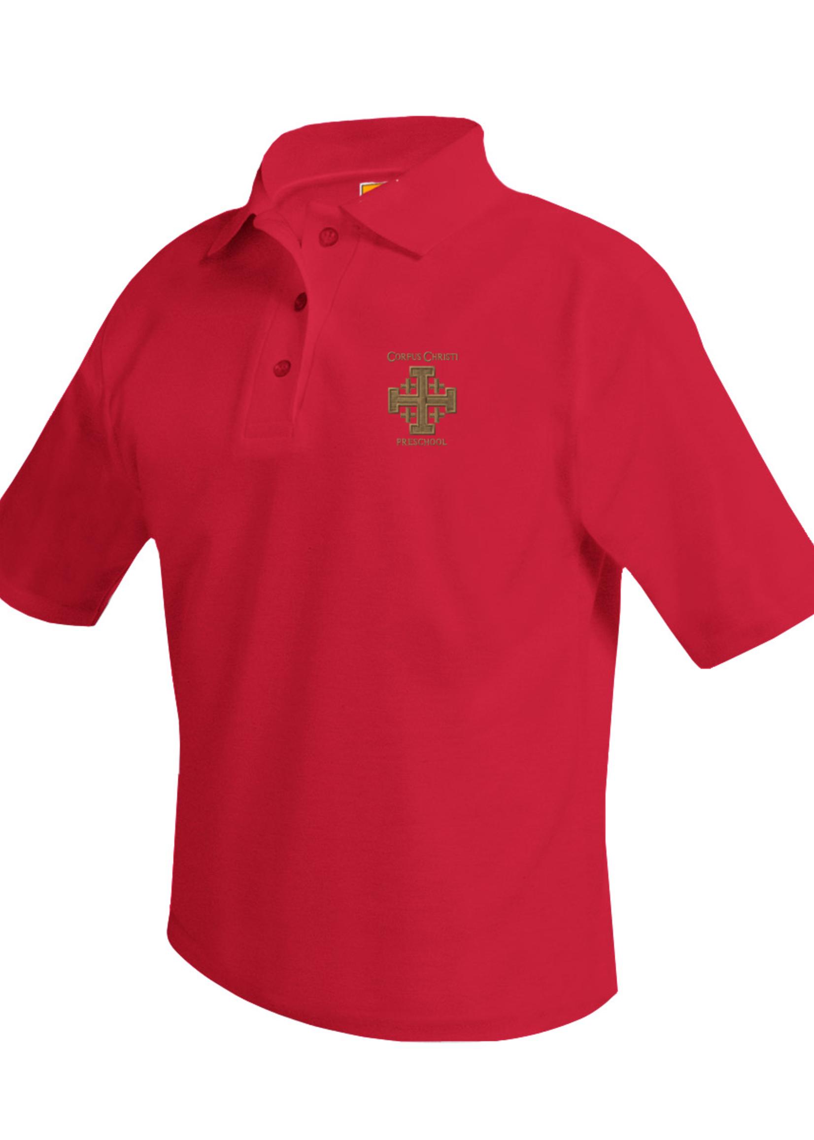 CCPS Short Sleeve Red Pique Polo