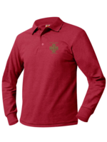 TUS CCPS Red Long Sleeve Pique Polo