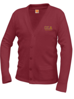TUS CCA V-neck cardigan sweater with pockets
