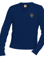 TUS CCPS Navy V-neck Pullover sweater
