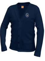 GSCS Navy V-neck cardigan sweater with pockets