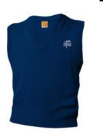 NPA Navy V-neck sweater vest