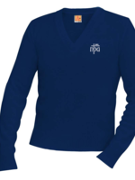 TUS NPA Navy V-neck Pullover sweater
