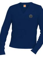 TUS OLA Navy V-neck Pullover sweater
