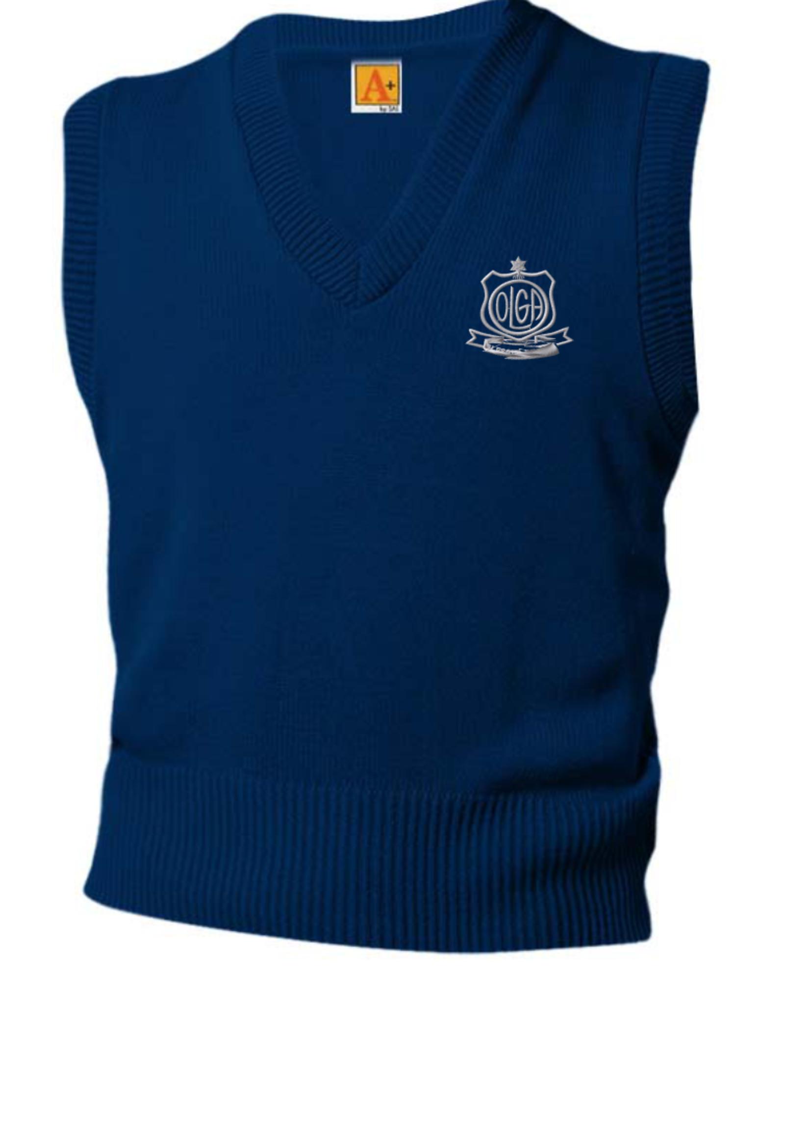 OLGA Navy V-neck sweater vest