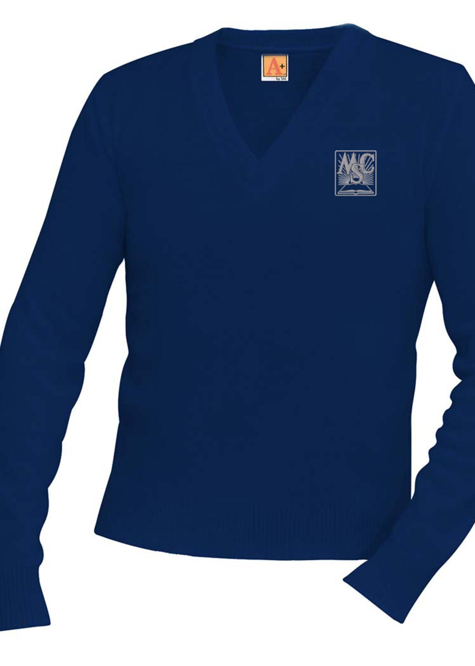 OLMC Navy V-neck Pullover sweater