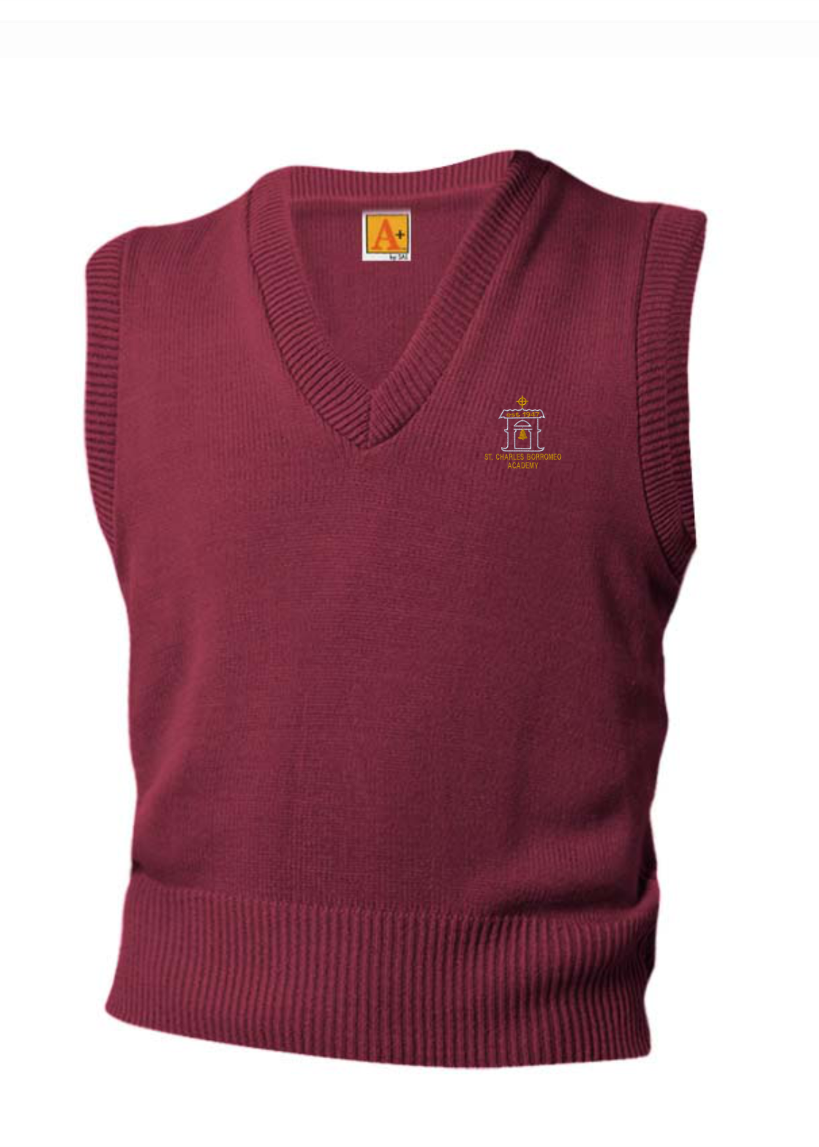 SCBA Wine V-neck sweater vest