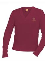 TUS SCBA Wine V-neck Pullover sweater
