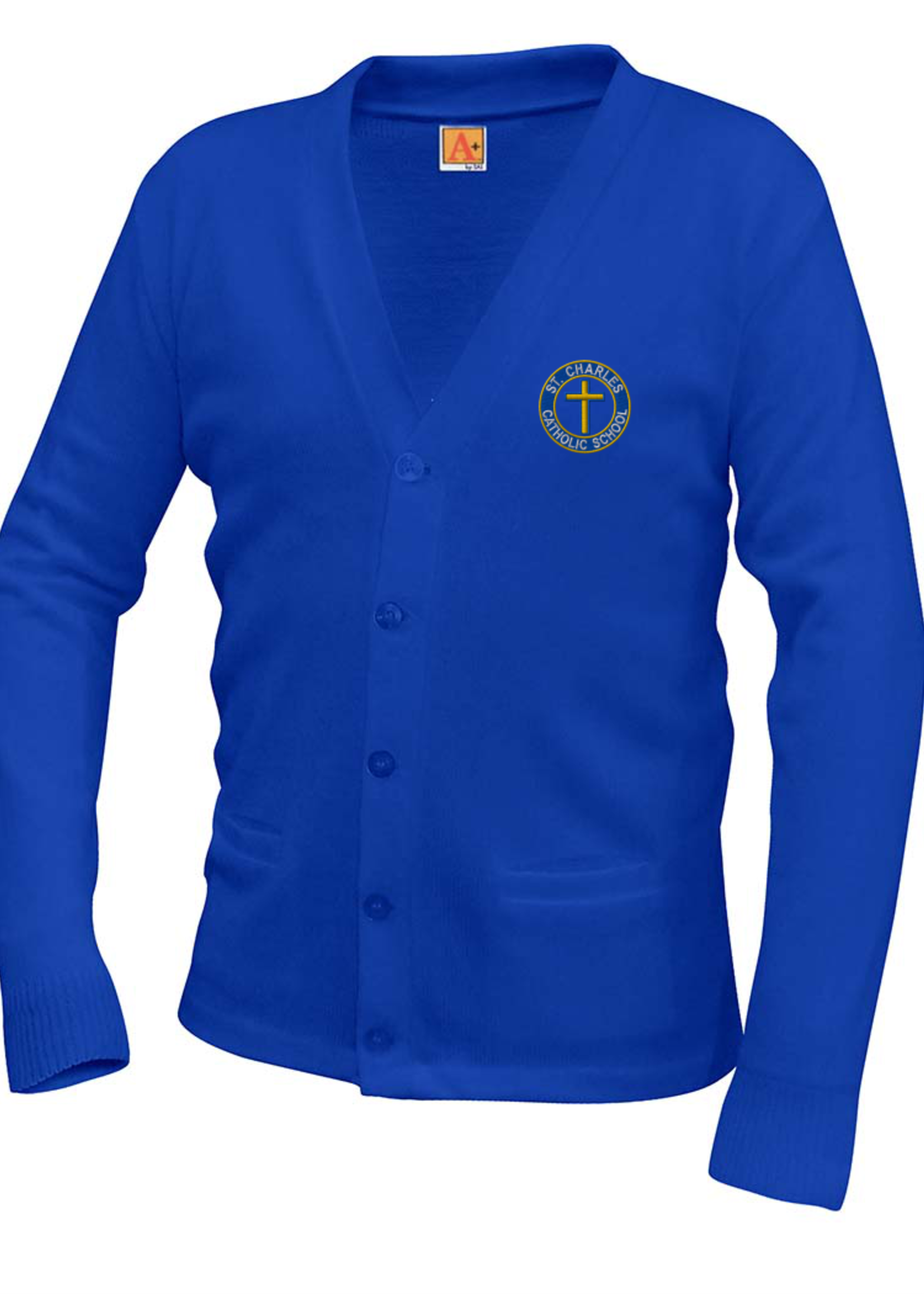TUS SCCS Royal V-neck cardigan sweater with pockets K-4