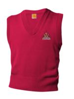 SHPS Red V-neck sweater vest