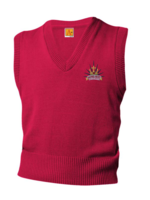 TUS SHPS Red V-neck sweater vest