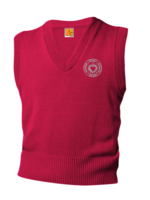 TUS SHS Red V-neck sweater vest