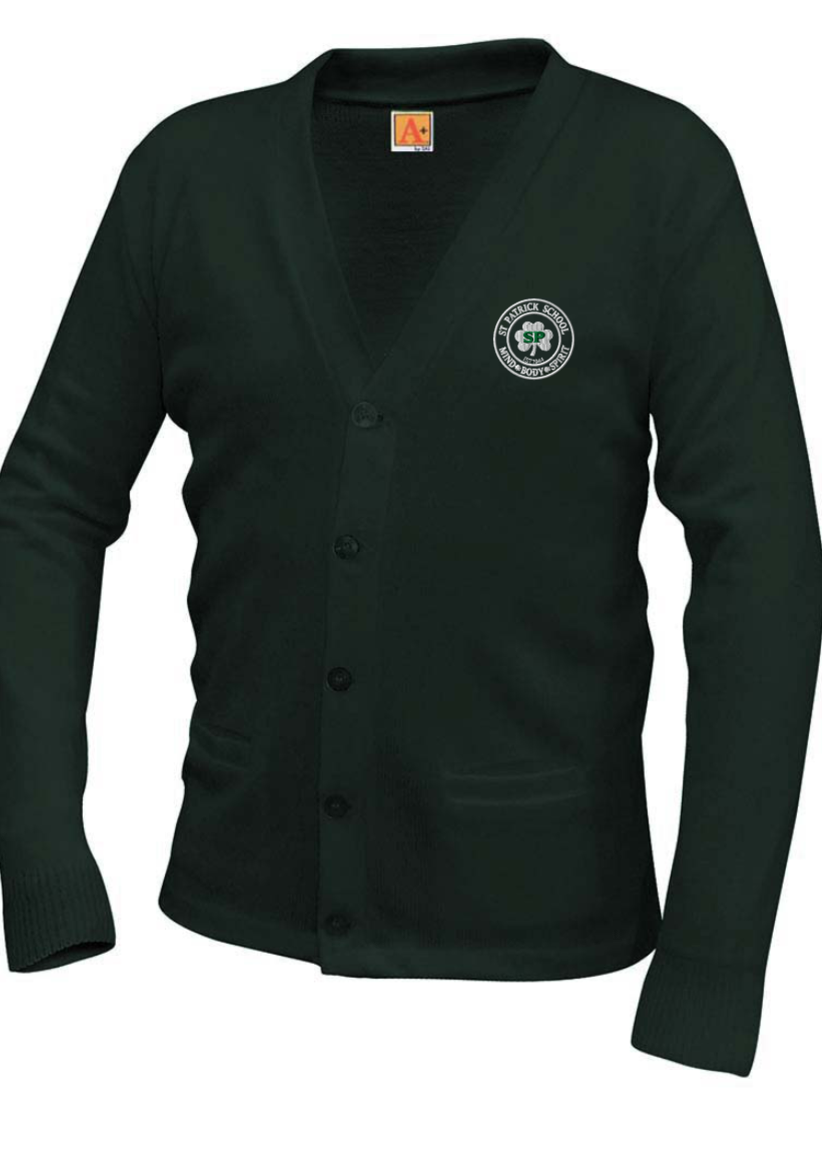 TUS SPS Forest V-neck cardigan sweater with pockets