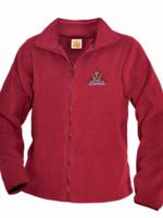 TUS SHPS Red Fleece Full Zip Jacket