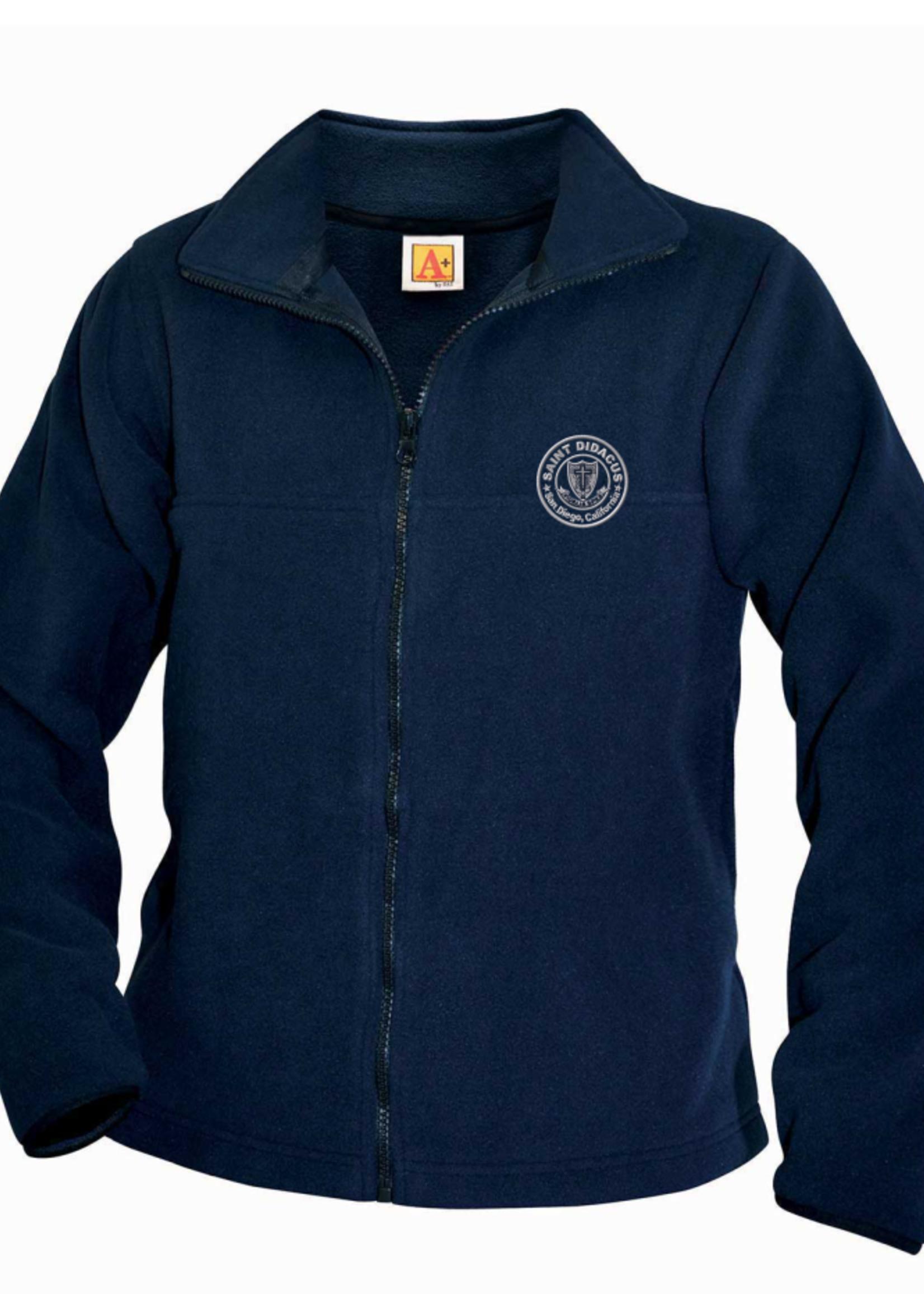 TUS SDPS Navy Fleece Full Zip Jacket