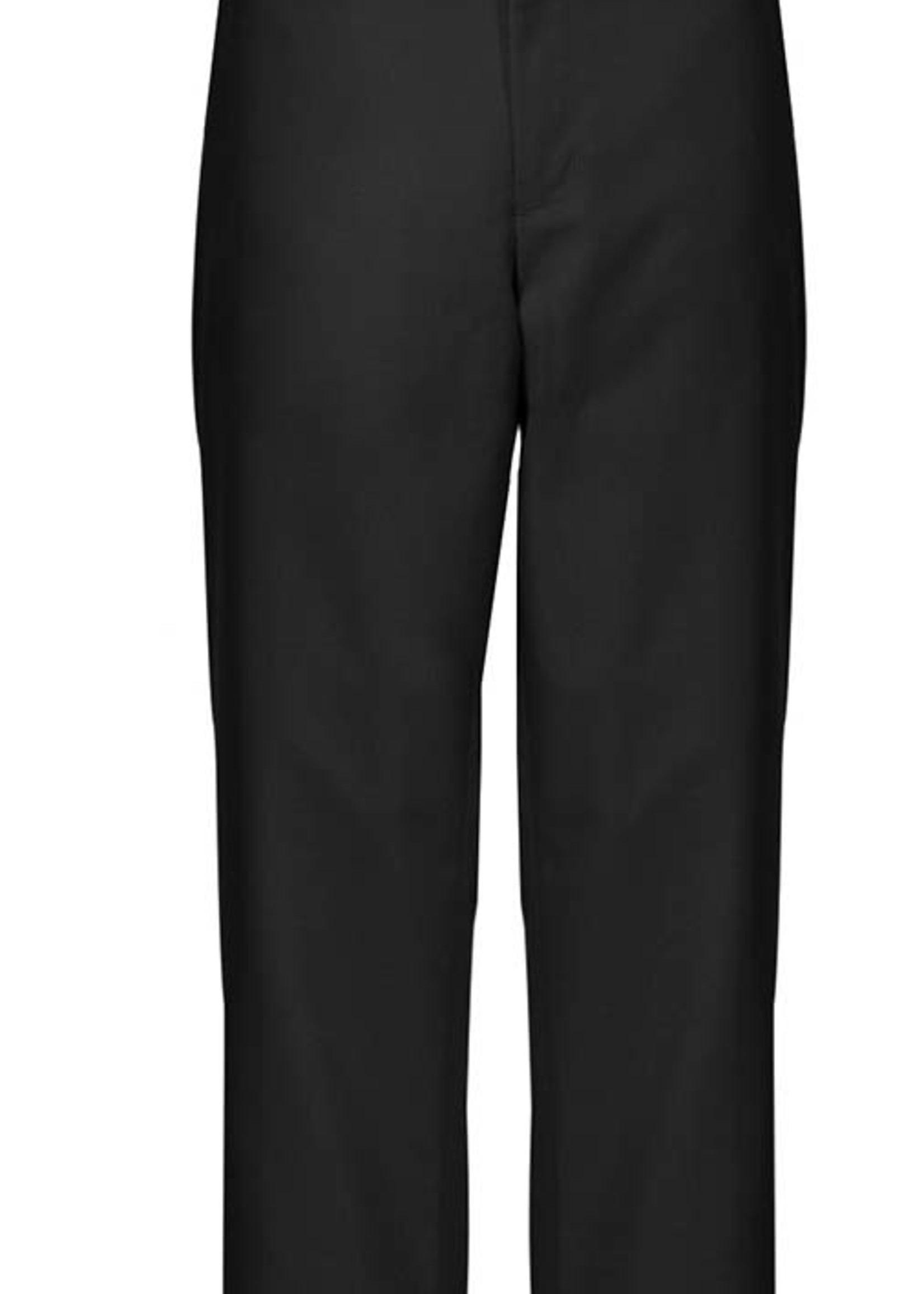 A+ Boys Black Flat Front Pants