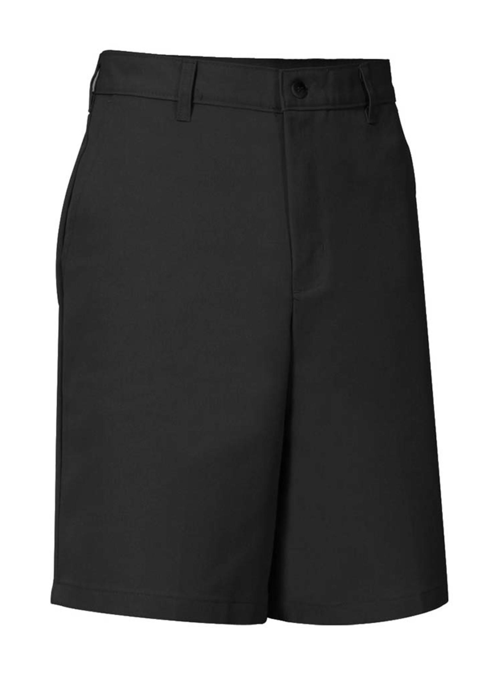 A+ Mens Black Flat Front Shorts