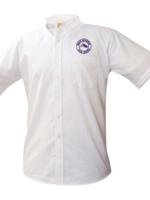 TUS ROCK White Short Sleeve Oxford Shirt