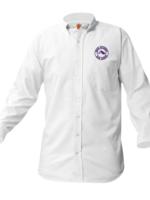 TUS ROCK White Long Sleeve Oxford Shirt