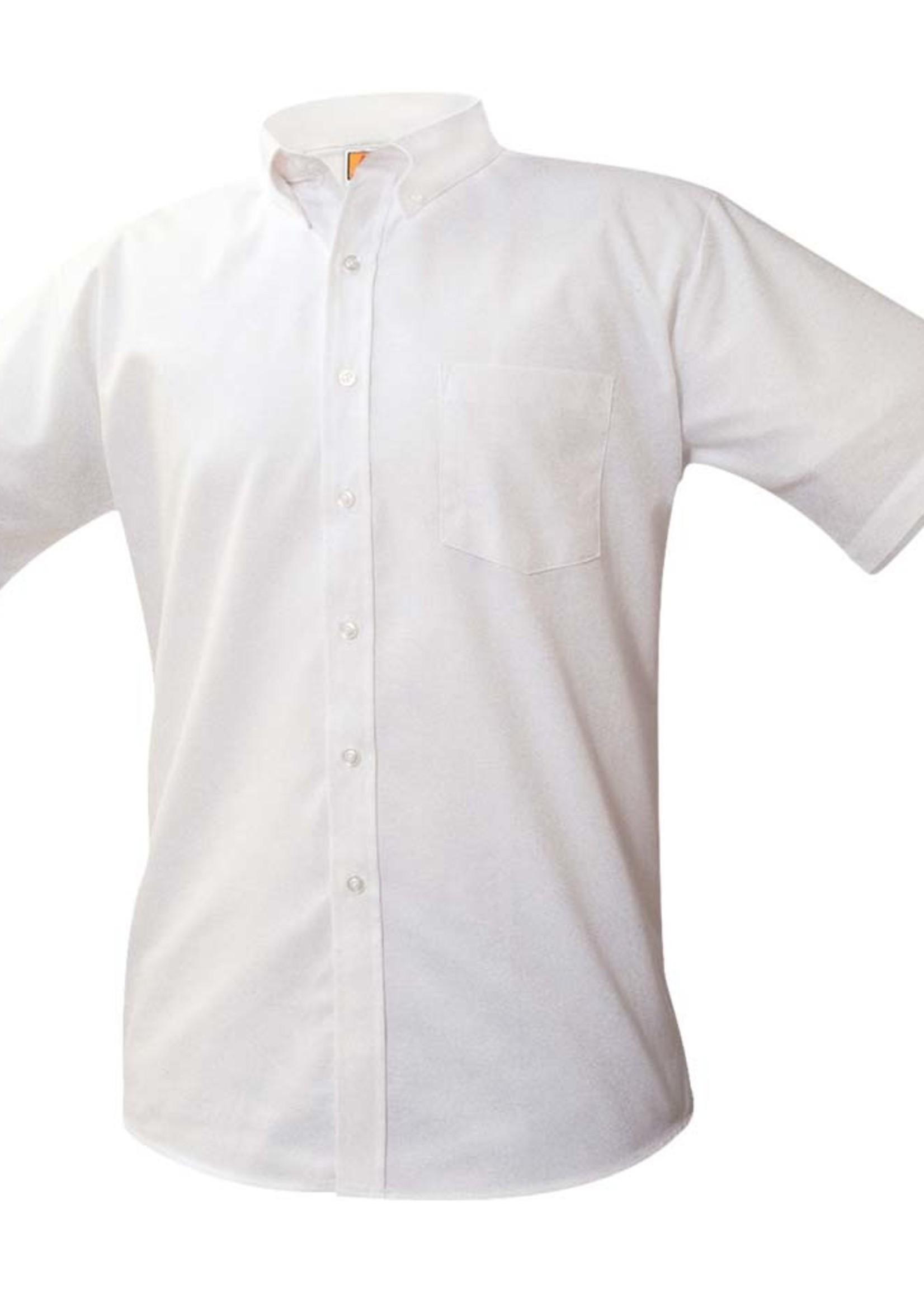 Null JDA White Short Sleeve Oxford Shirt