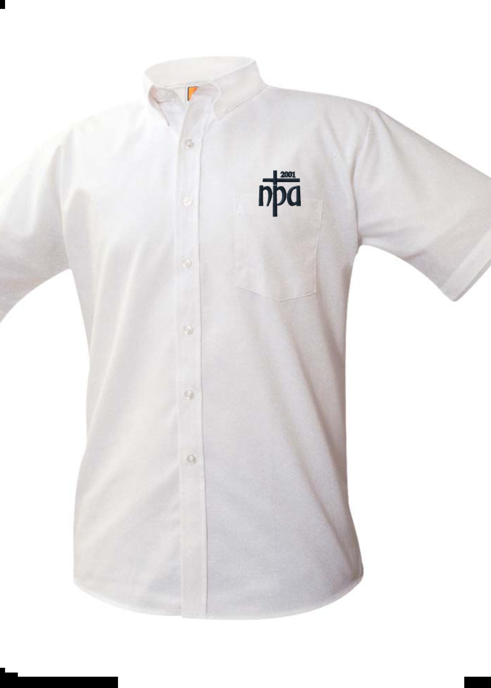 Null NPA White Short Sleeve Oxford Shirt