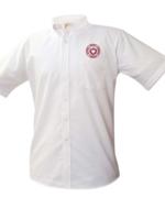 Null SHS White Short Sleeve Oxford Shirt