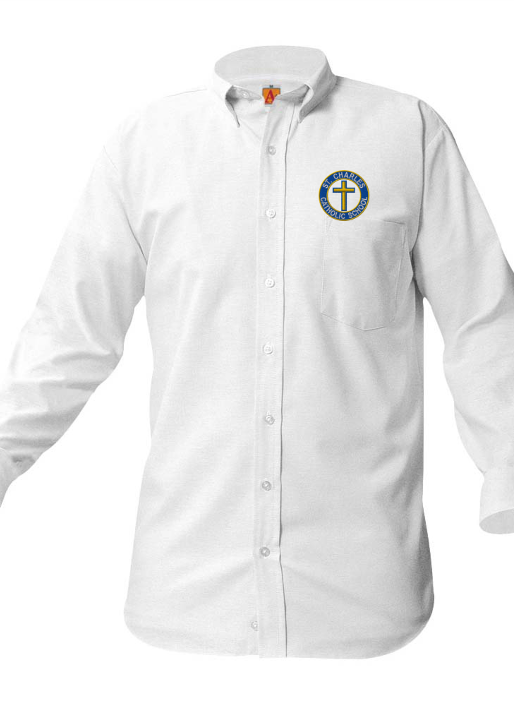 Null SCCS White Long Sleeve Oxford Shirt