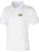 CCA White DryFit Short Sleeve Polo Shirt