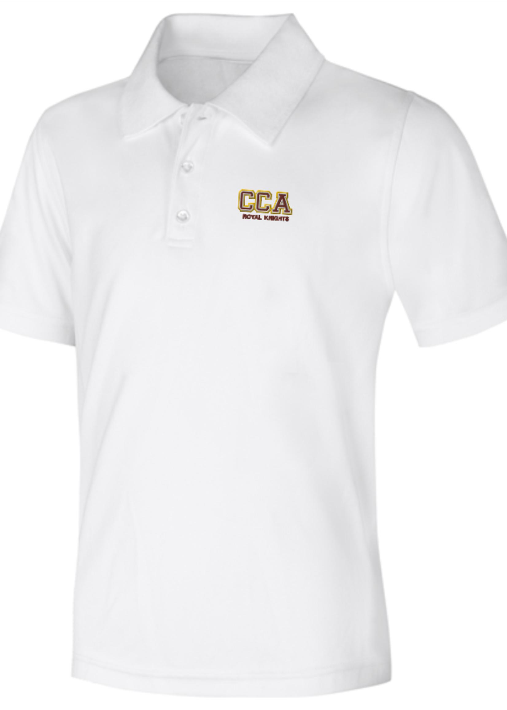TUS CCA White DryFit Short Sleeve Polo Shirt