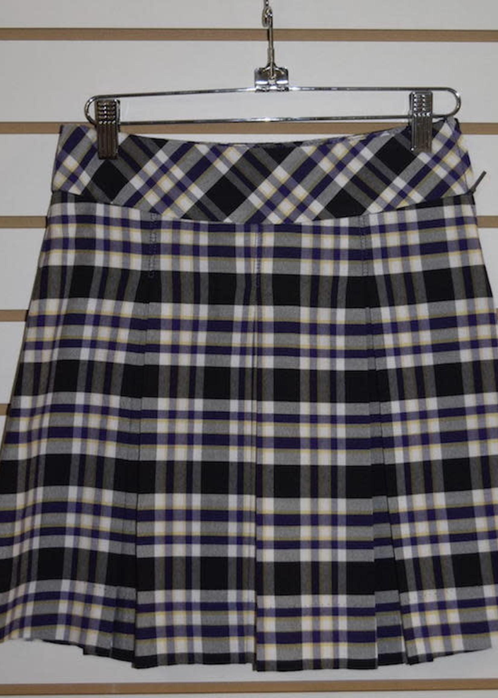 Rock Plaid Bias Band Skirt (P2M)