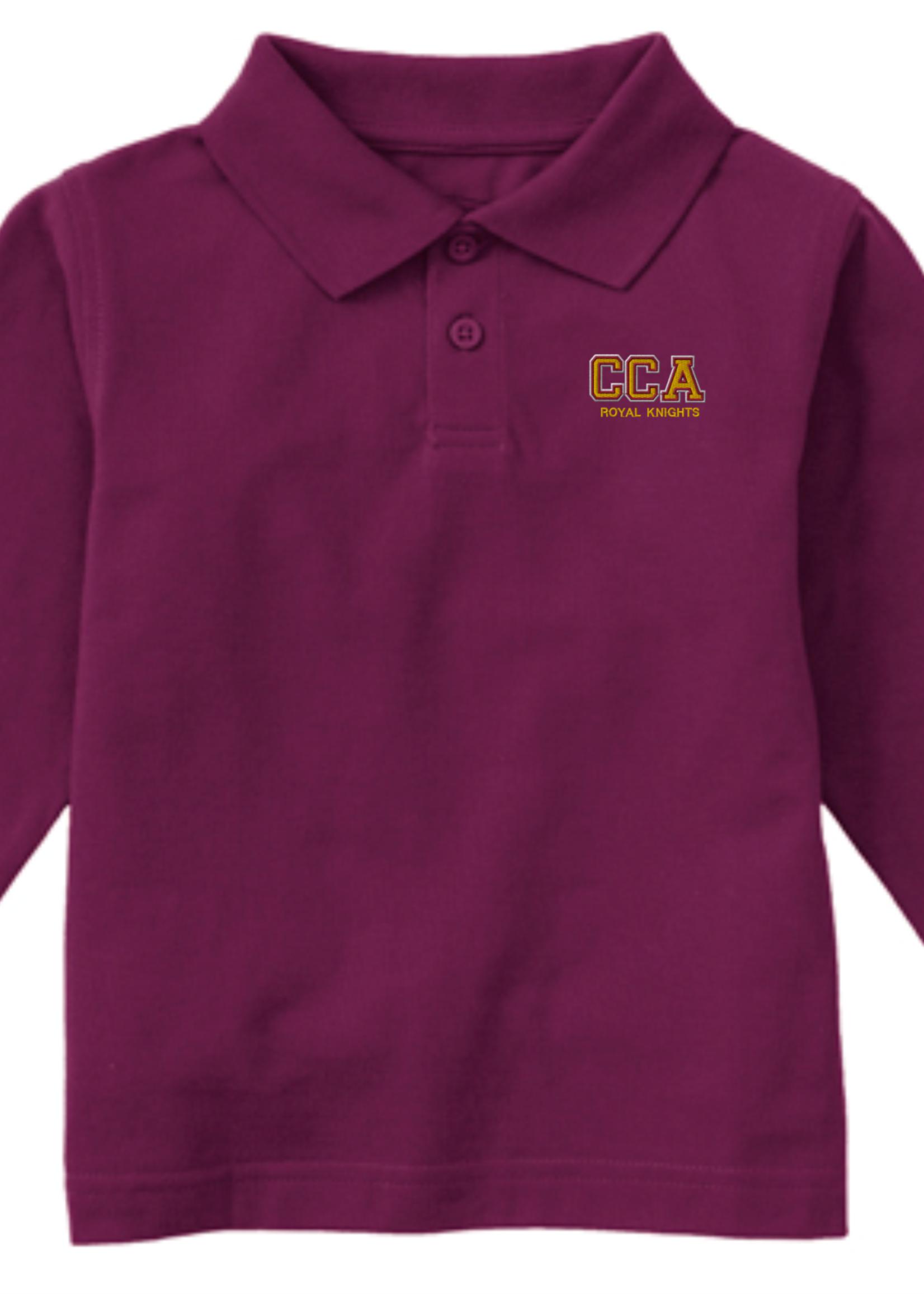 TUS CCA Value Long Sleeve Pique Polo