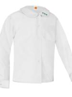 TUS CTCS White Long Sleeve Peter Pan Blouse w/o Pocket