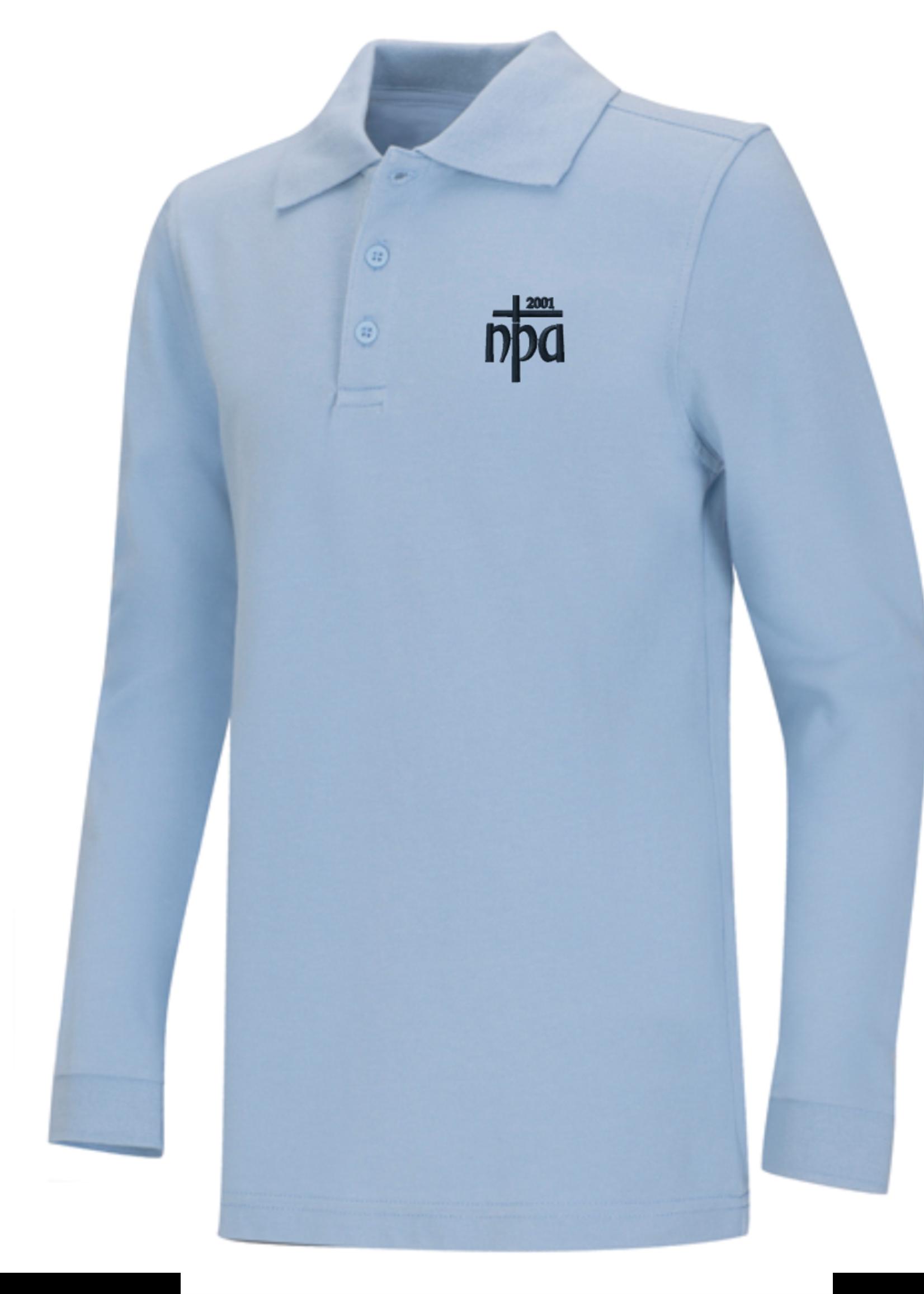 NPA Value Lt. Blue Long Sleeve Polo Pique