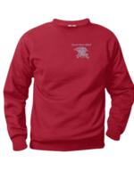 SHS Red Fleece Crewneck Sweatshirt (EMB)