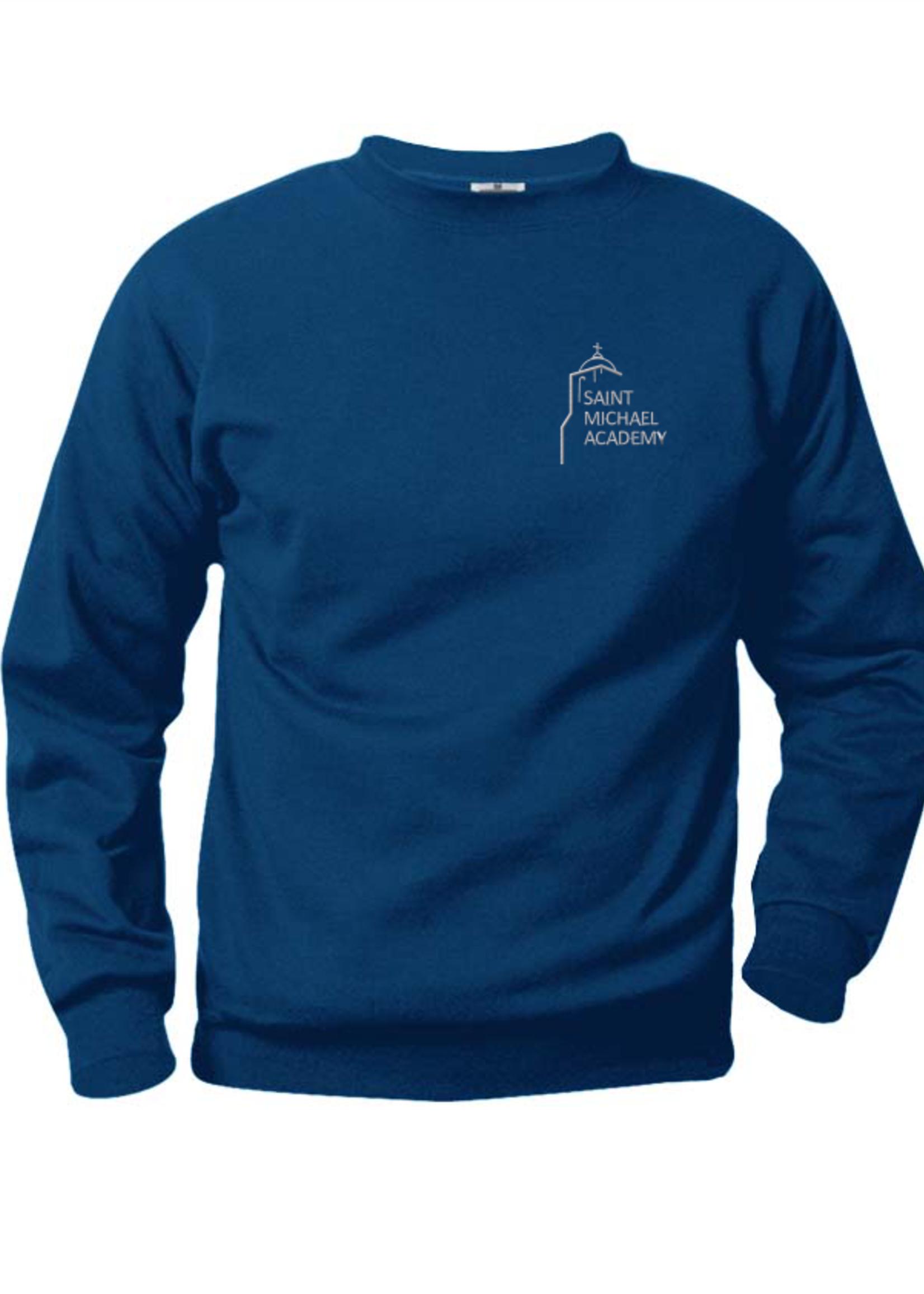 TUS SMA Navy Fleece Crewneck Sweatshirt (EMB)
