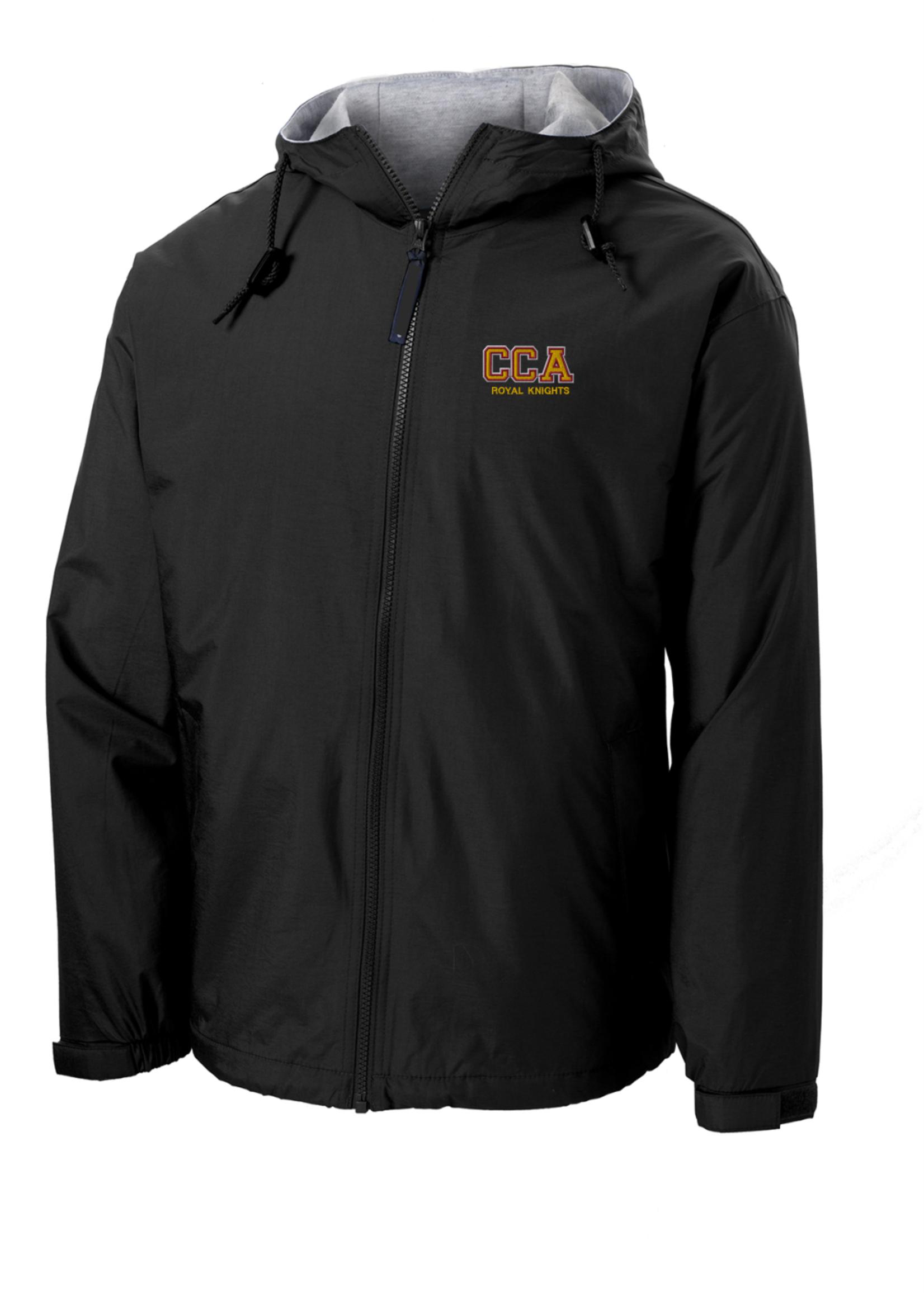 CCA Hooded Black Full Zip Baywatch Jacket