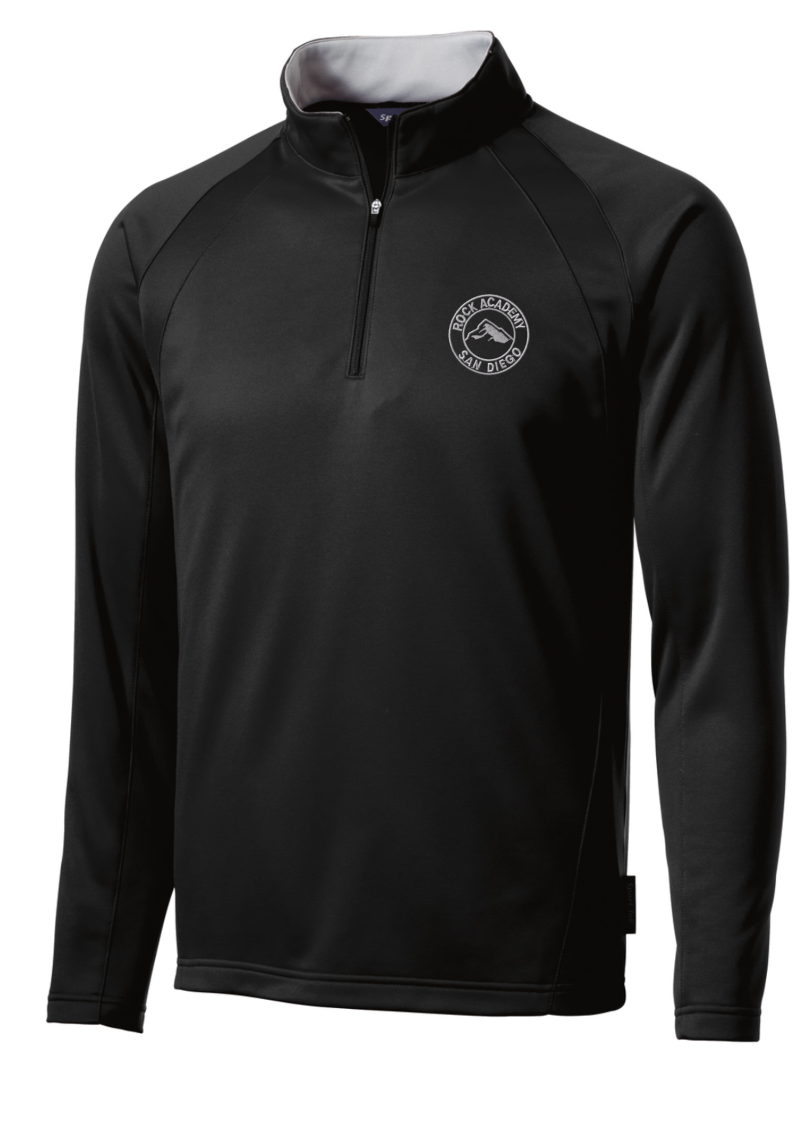 TUS ROCK Black 1/4 Zip Performance Jacket