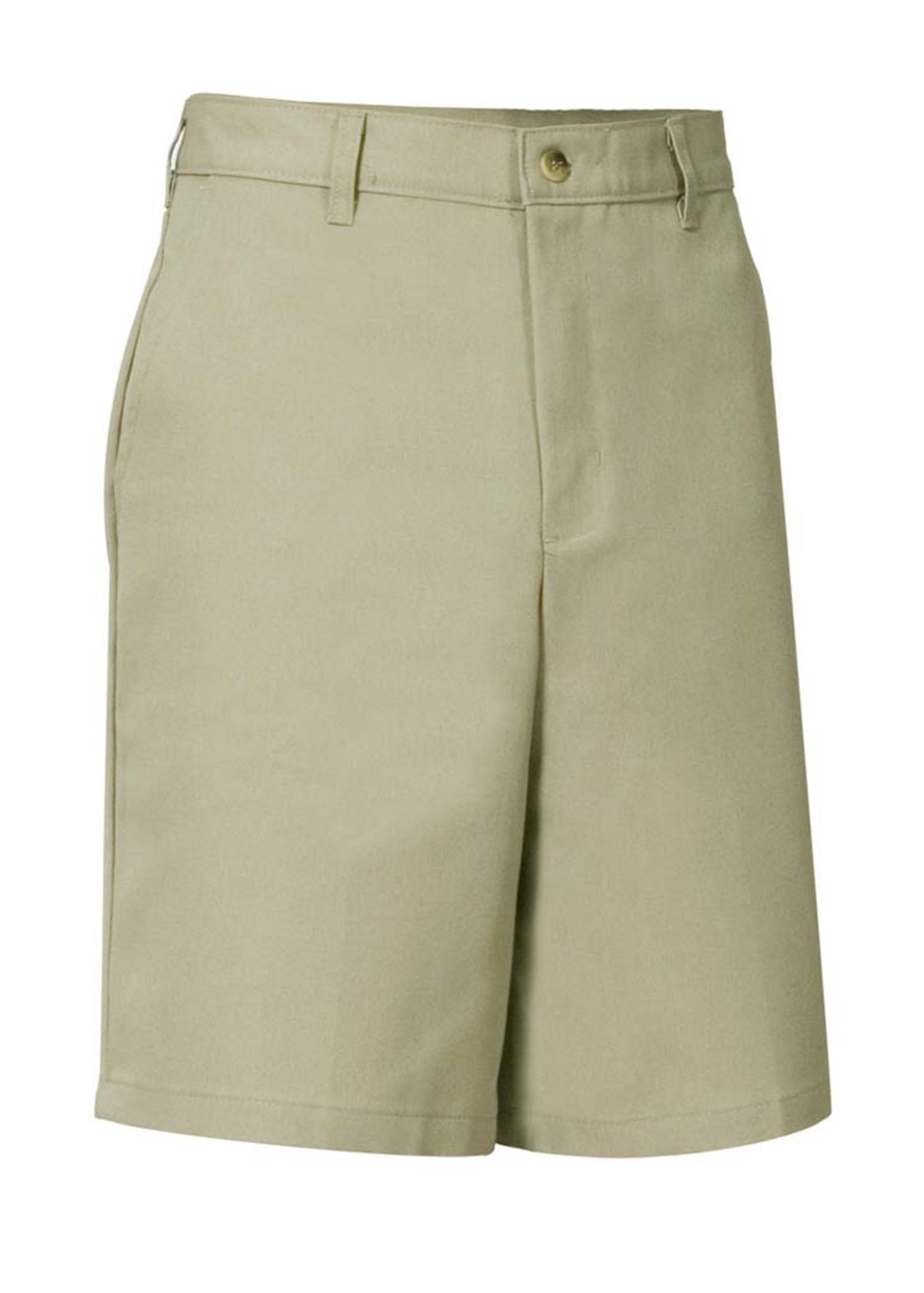 A+ CUSSD Boys Khaki Flat Front Shorts