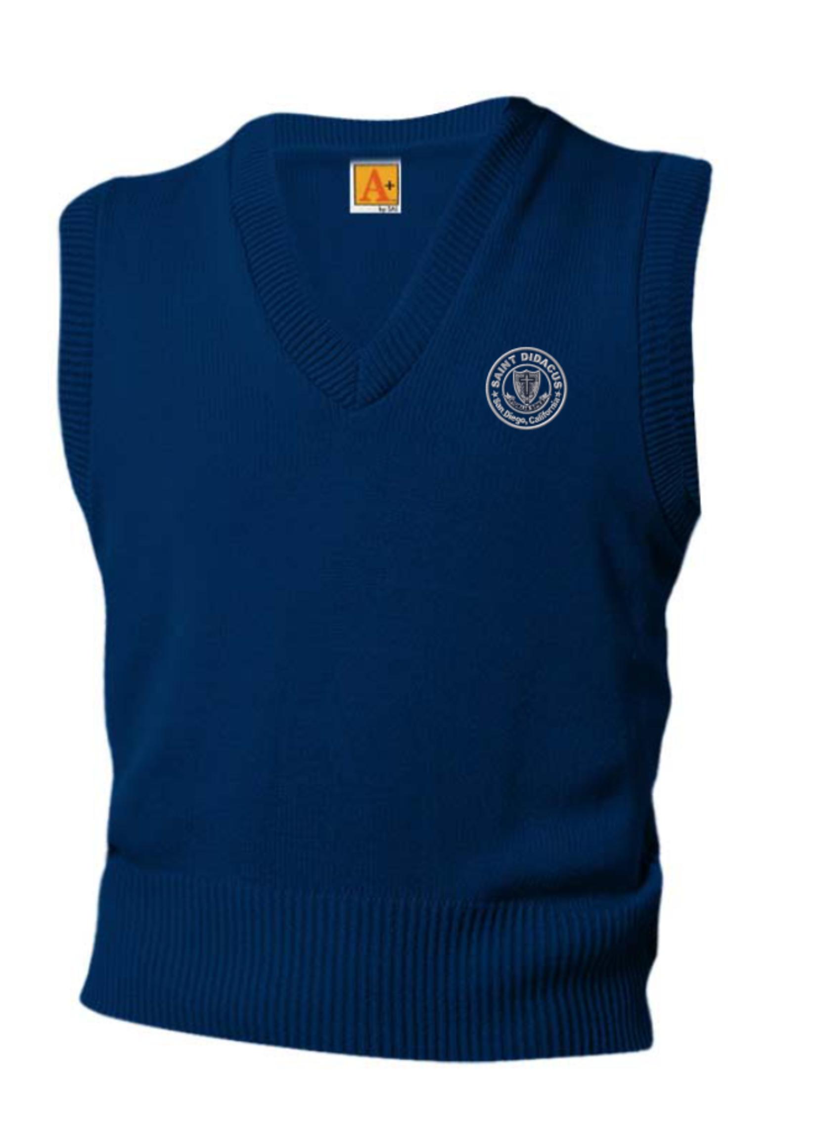 TUS SDPS Navy V-neck sweater vest 7-8