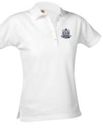 OLGA (PE) Ladies Short Sleeve White Pique Polo